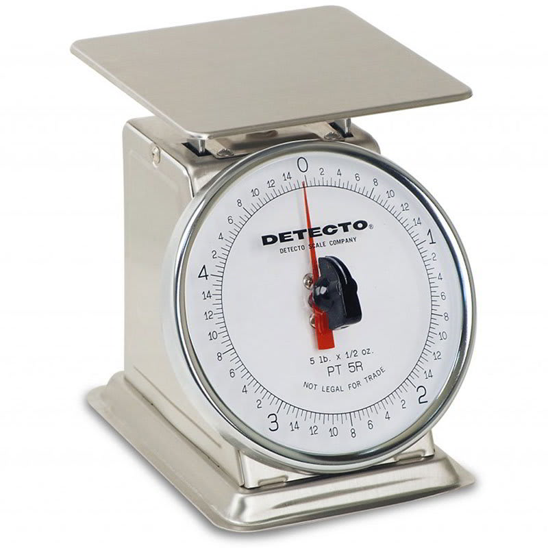 Detecto PT-500SRK Petite Top Loading Rotating Dial Portion Scale w/ Stainless, 500 x 2 g