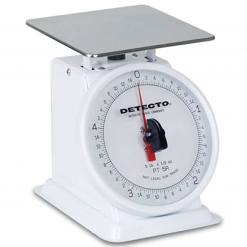 Detecto PT-5R Petite Rotating Dial Portion Scale w/ Enamel Housing, 5-lb x .5-oz