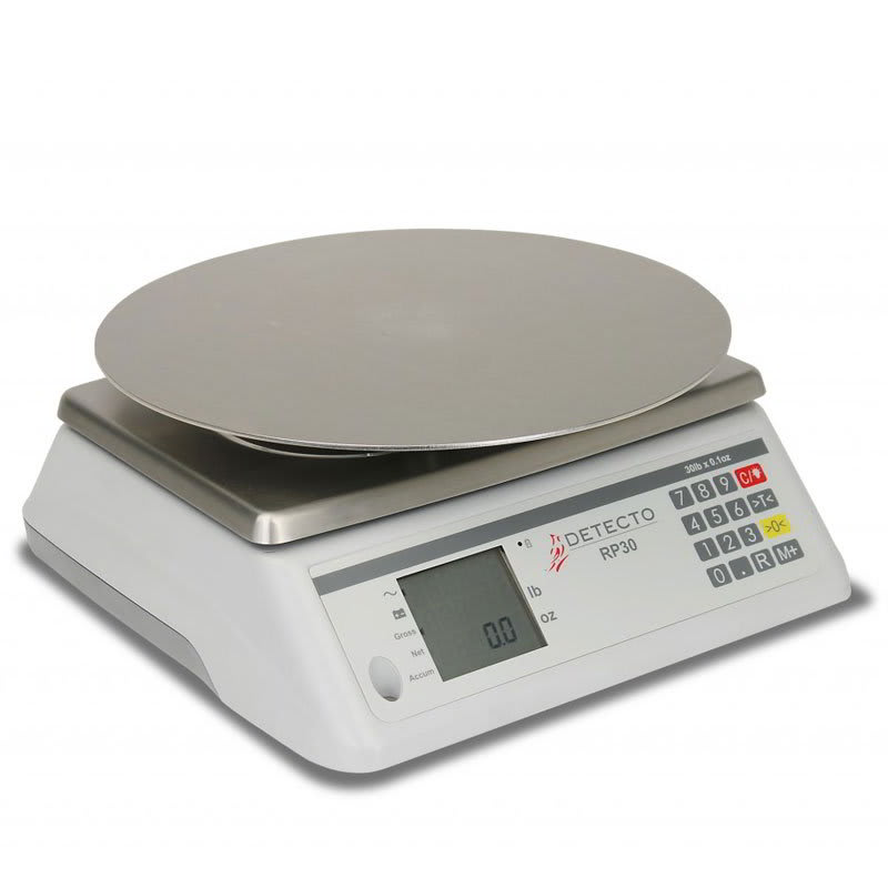 """Detecto RP30R 30 lb Rotating Scale w/ 13"""" Round Platter, 115v"""