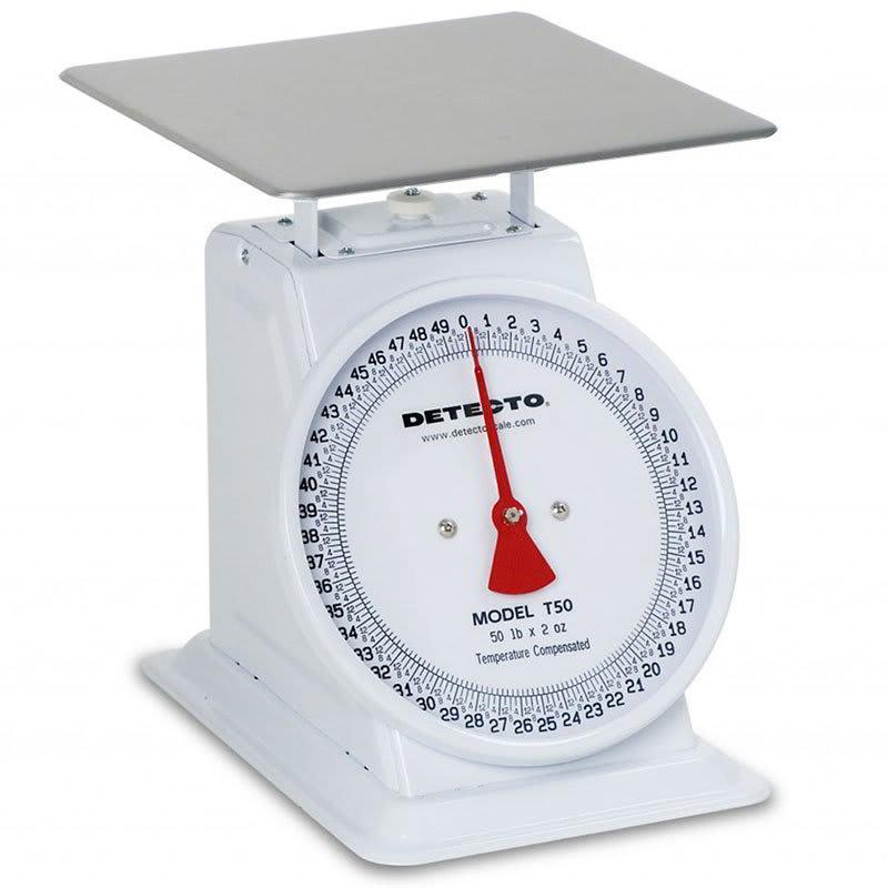 Detecto T100 Top Loading Dial Receiving Scale w/ Enamel Housing, 100-lb x 4-oz