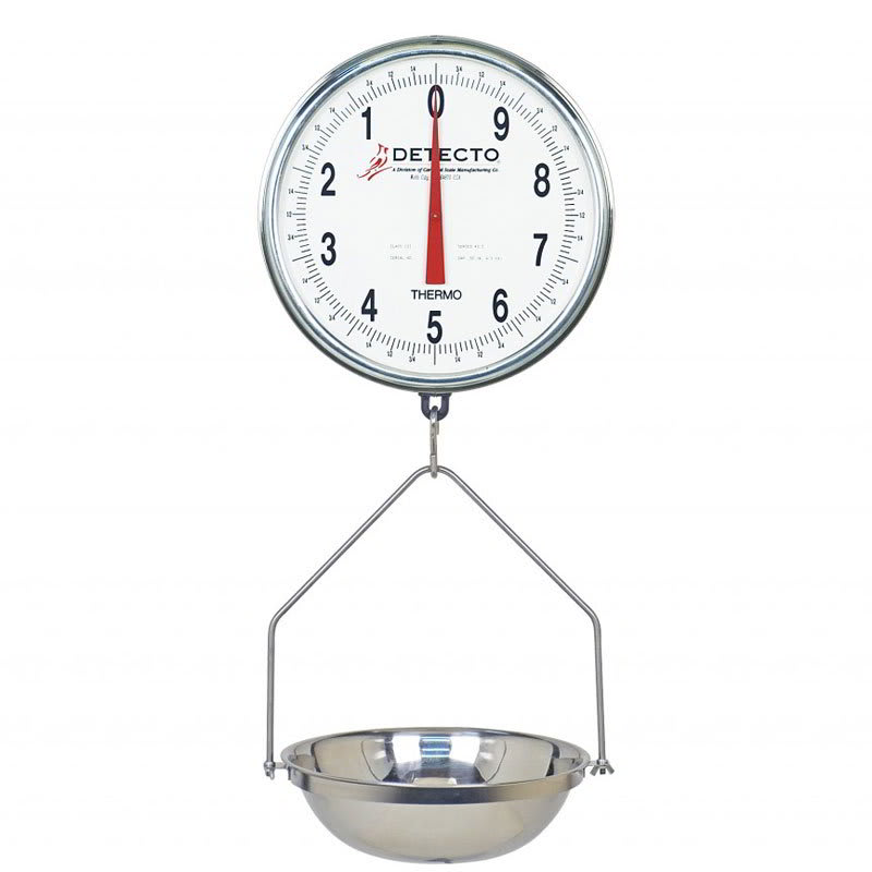 Detecto T3530KG Hanging Fish Scale w/ 15-kg Capacity, Glass Dial Cover