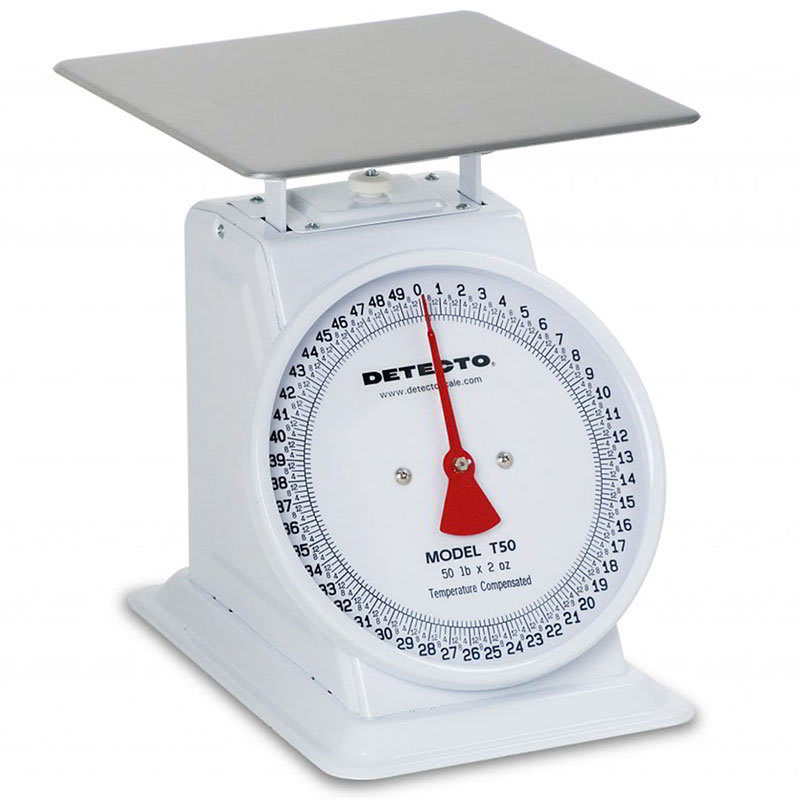 Detecto T-50-KP Top Loading Dial Portion Scale w/ Enamel Housing, 110 x .25 lb