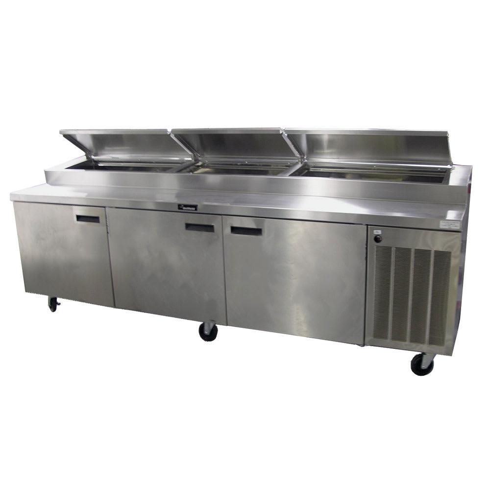 "Delfield 186114PTBMP 114"" Pizza Prep Table w/ Refrigerated Base, 115v"