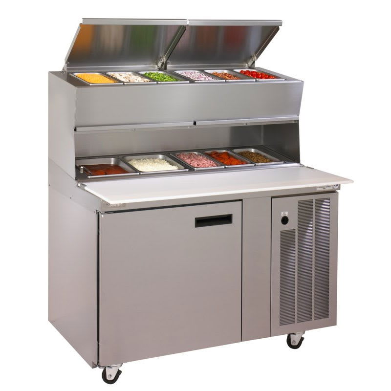 "Delfield 18648PDLV 48"" Pizza Prep Table w/ Refrigerated Base, 115v"