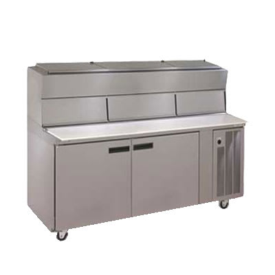 "Delfield 18672PDLV 72"" Pizza Prep Table w/ Refrigerated Base, 115v"