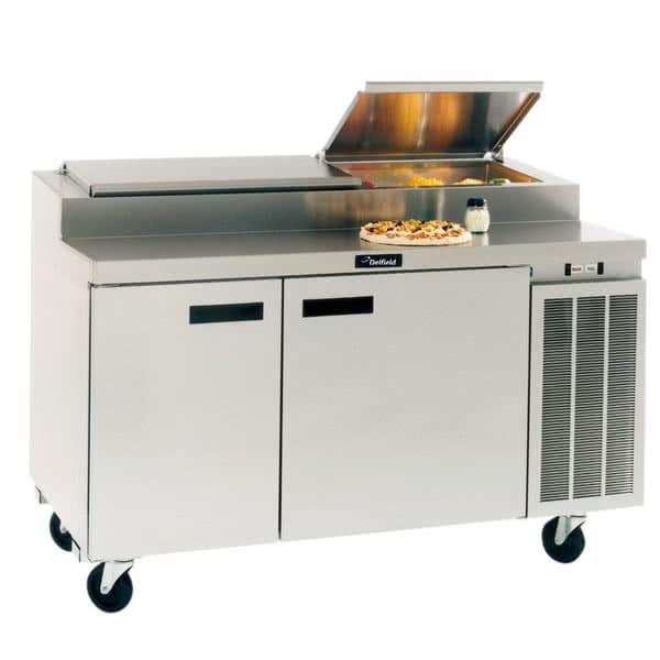 "Delfield 18672PTBMP 72"" Pizza Prep Table w/ Refrigerated Base, 115v"