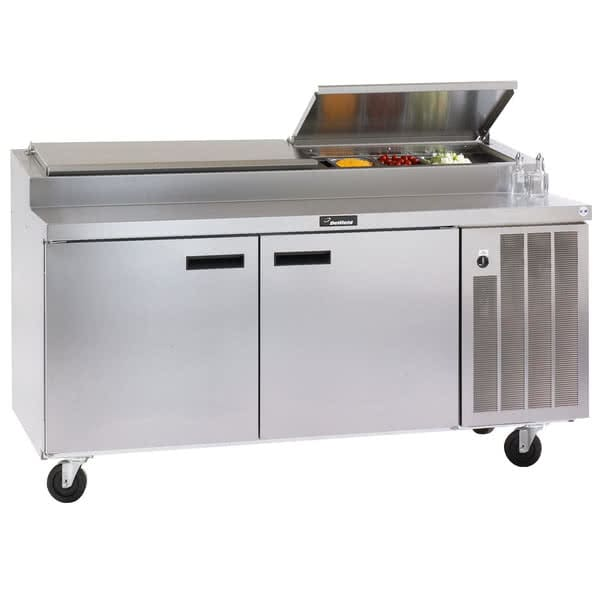 "Delfield 18672PTLV 72"" Pizza Prep Table w/ Refrigerated Base, 115v"