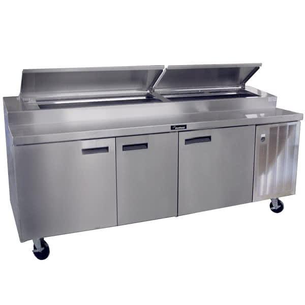 "Delfield 18691PTBMP 91"" Pizza Prep Table w/ Refrigerated Base, 115v"