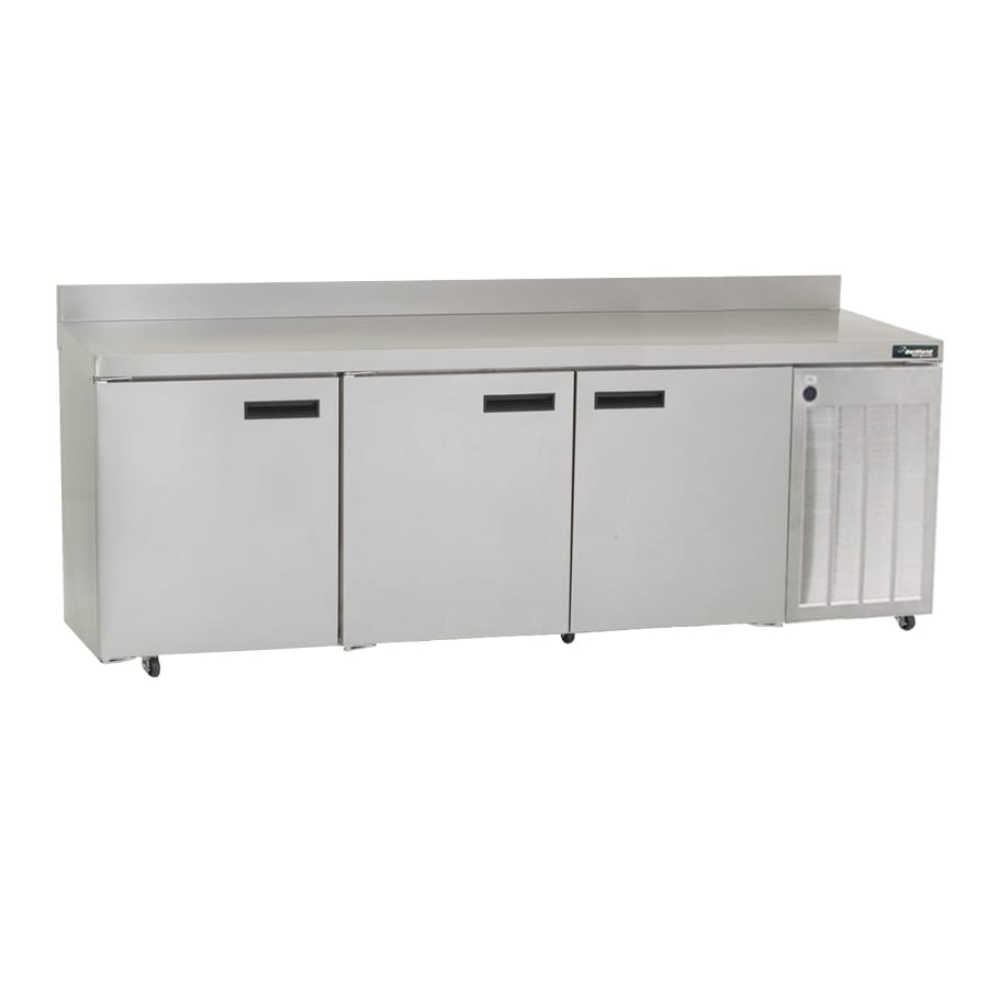 "Delfield 18699BSTMP 99"" Worktop Refrigerator w/ (3) Sections, 115v"