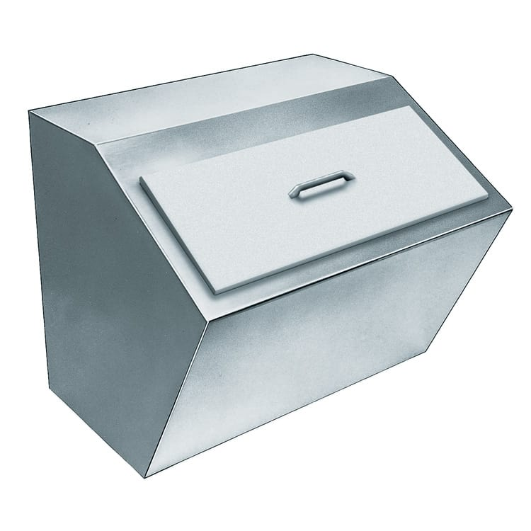 Delfield 240 75-lb Drop-In Ice Bin w/ Lift-Off Cover, Stainless
