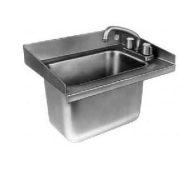 Delfield 242 Undercounter Sink & Faucet, 18 x 13.5 x 12.75-in