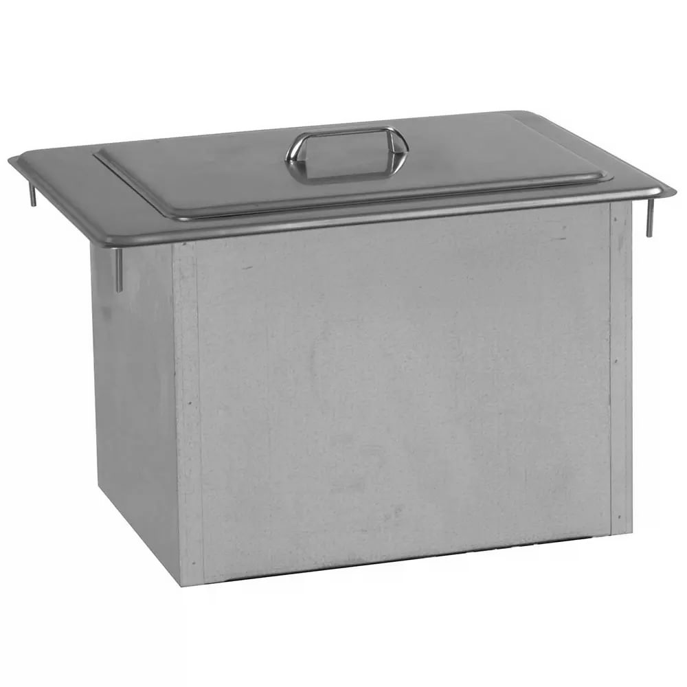 Delfield 305 45-lb Drop-In Ice Bin Chest w/ Cover, 21.25 x 15.25 x 13""