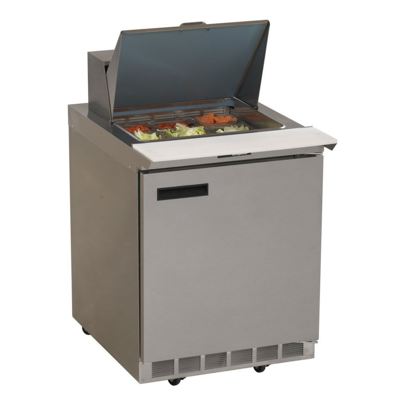 "Delfield 4427N-6 27"" Sandwich/Salad Prep Table w/ Refrigerated Base, 115v"