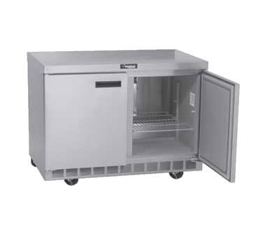 "Delfield 4448N 48"" Work Top Refrigerator w/ (2) Section, 115v"