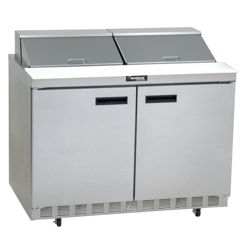 "Delfield 4448N-18M 48"" Sandwich/Salad Prep Table w/ Refrigerated Base, 115v"