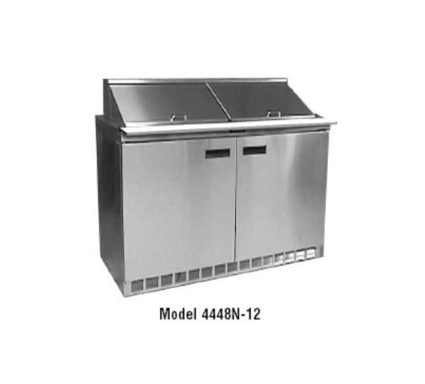 "Delfield 4448N-8 48"" Sandwich/Salad Prep Table w/ Refrigerated Base, 115v"