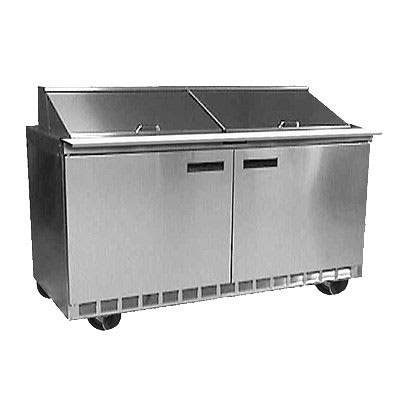 "Delfield 4464N-12 64"" Sandwich/Salad Prep Table w/ Refrigerated Base, 115v"