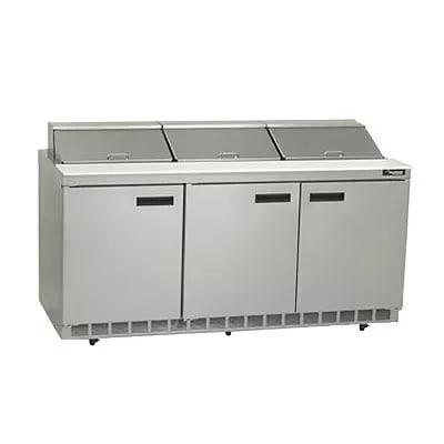 "Delfield 4472N-12 72"" Sandwich/Salad Prep Table w/ Refrigerated Base, 115v"