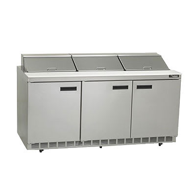 "Delfield 4472N-18 72"" Sandwich/Salad Prep Table w/ Refrigerated Base, 115v"