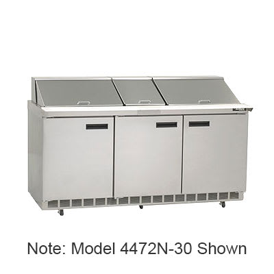 "Delfield 4472N-24M 72"" Sandwich/Salad Prep Table w/ Refrigerated Base, 115v"