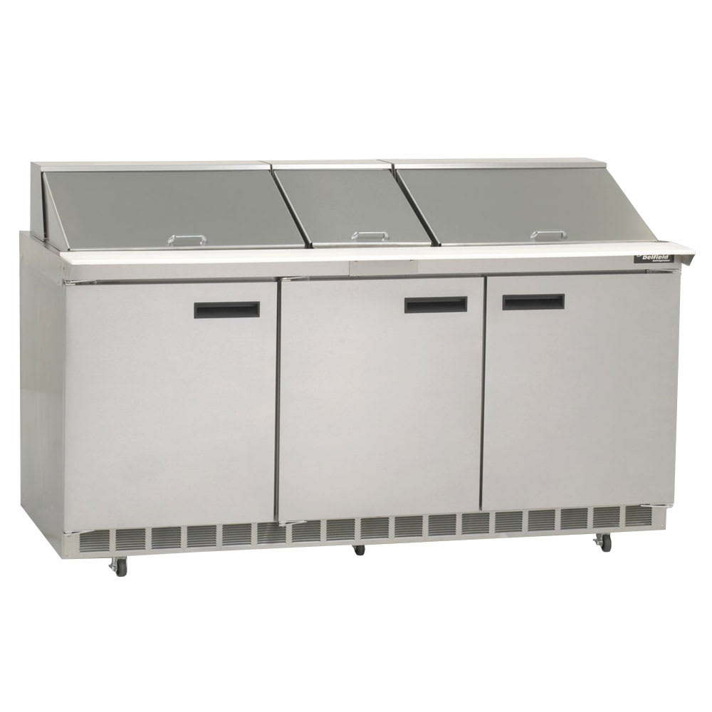 "Delfield 4472N-30M 72"" Sandwich/Salad Prep Table w/ Refrigerated Base, 115v"