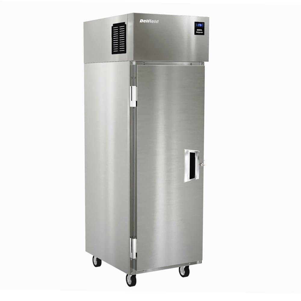 "Delfield 6025XL-S 25.5"" Single Section Reach-In Refrigerator, (1) Solid Door, 115v"