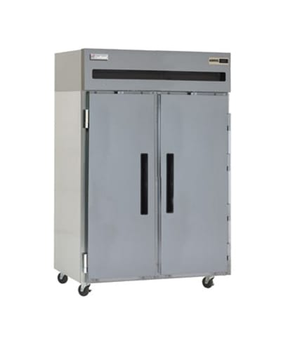 """Delfield 6051XL-S 51"""" Two Section Reach-In Refrigerator, (2) Solid Door, 115v"""