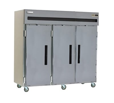 "Delfield 6176XL-S 76.5"" Three Section Reach-In Freezer, (3) Solid Doors, 120v"