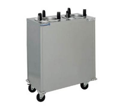 "Delfield CAB2-500 Plate Dispenser, Mobile, 2 Tubes, 5"" Max Dish Size, Stainless Steel"