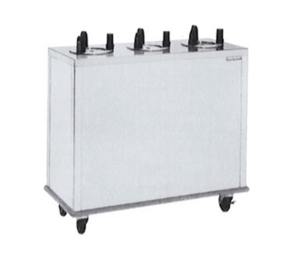 """Delfield CAB3-1200ET Heated Dish Dispenser w/ 3 Tubes, Maximum 12"""" Dish, 120 V"""