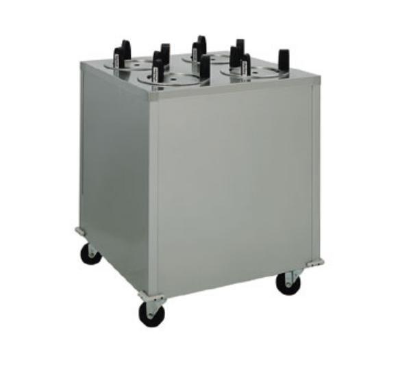 """Delfield CAB4-1200ET Heated Dish Dispenser w/ 4-Tubes, Maximum 14-1/2"""" Dish, 120 V"""
