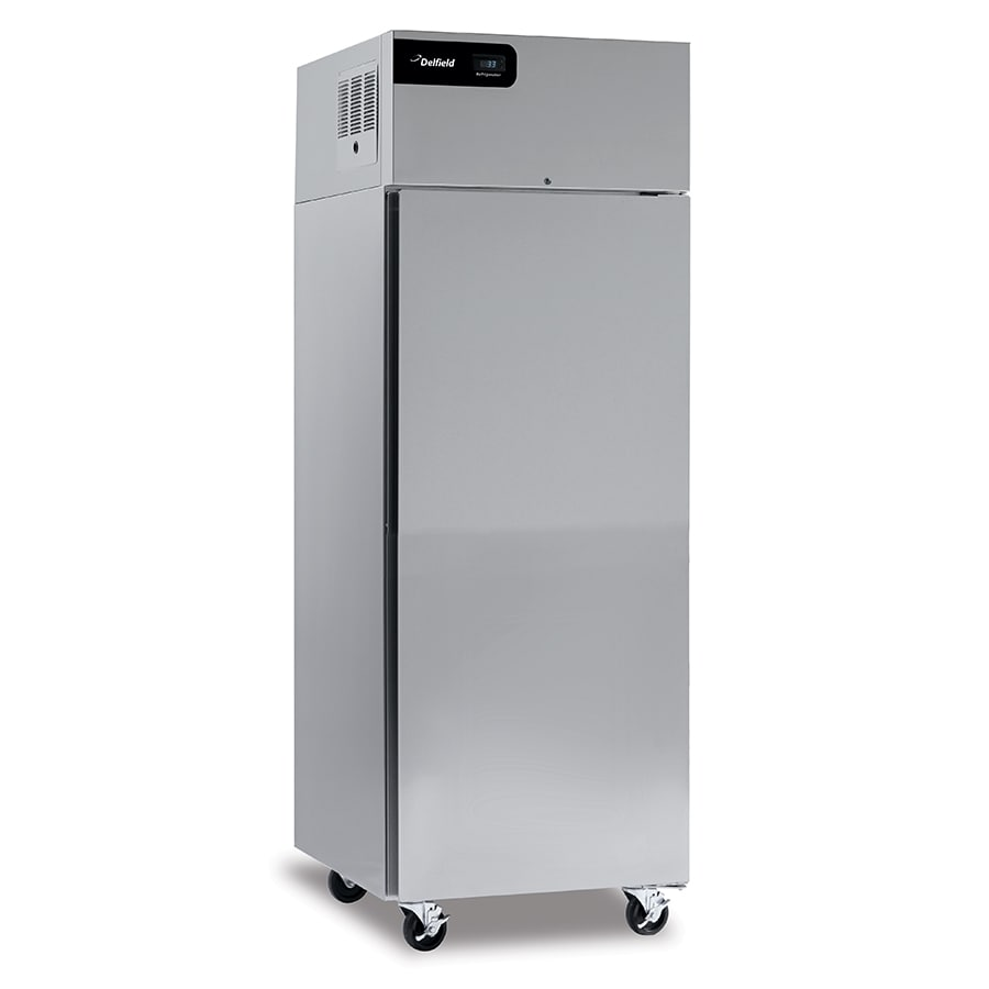 "Delfield CSDBR1P-SH 27"" Single Section Commercial Refrigerator Freezer - Solid Doors, Top Compressor, 115v"