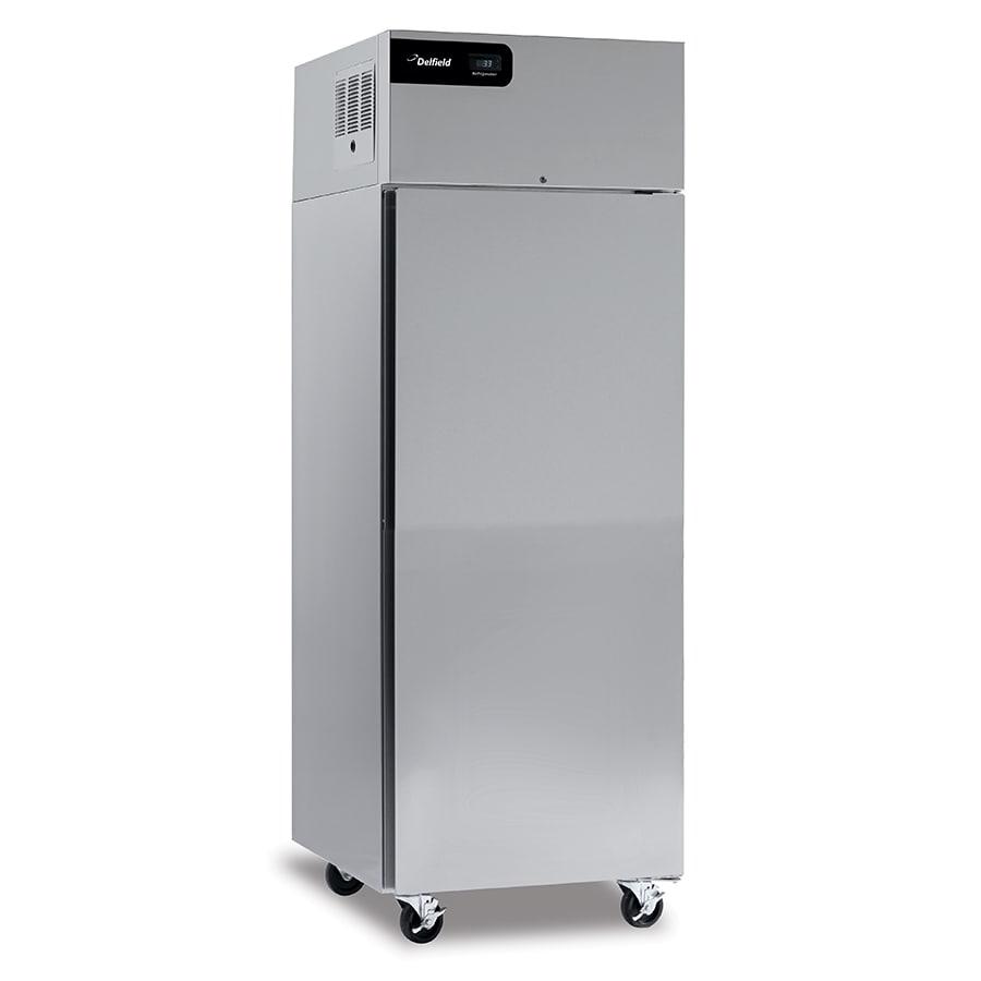 "Delfield CSDTR1P-SH 27"" Single Section Commercial Refrigerator Freezer - Solid Doors, Top Compressor, 115v"