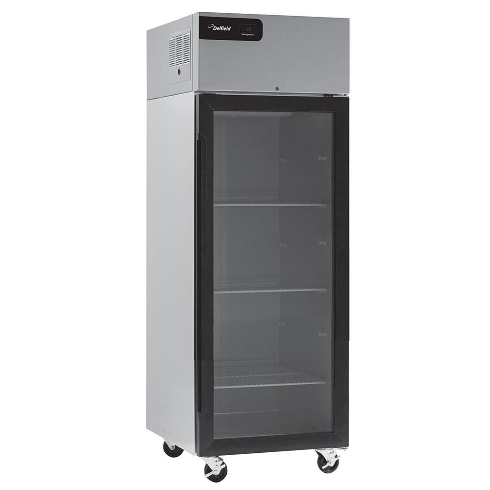 "Delfield CSR1P-G 27"" Single Section Reach-In Refrigerator, (1) Glass Door, 115v"
