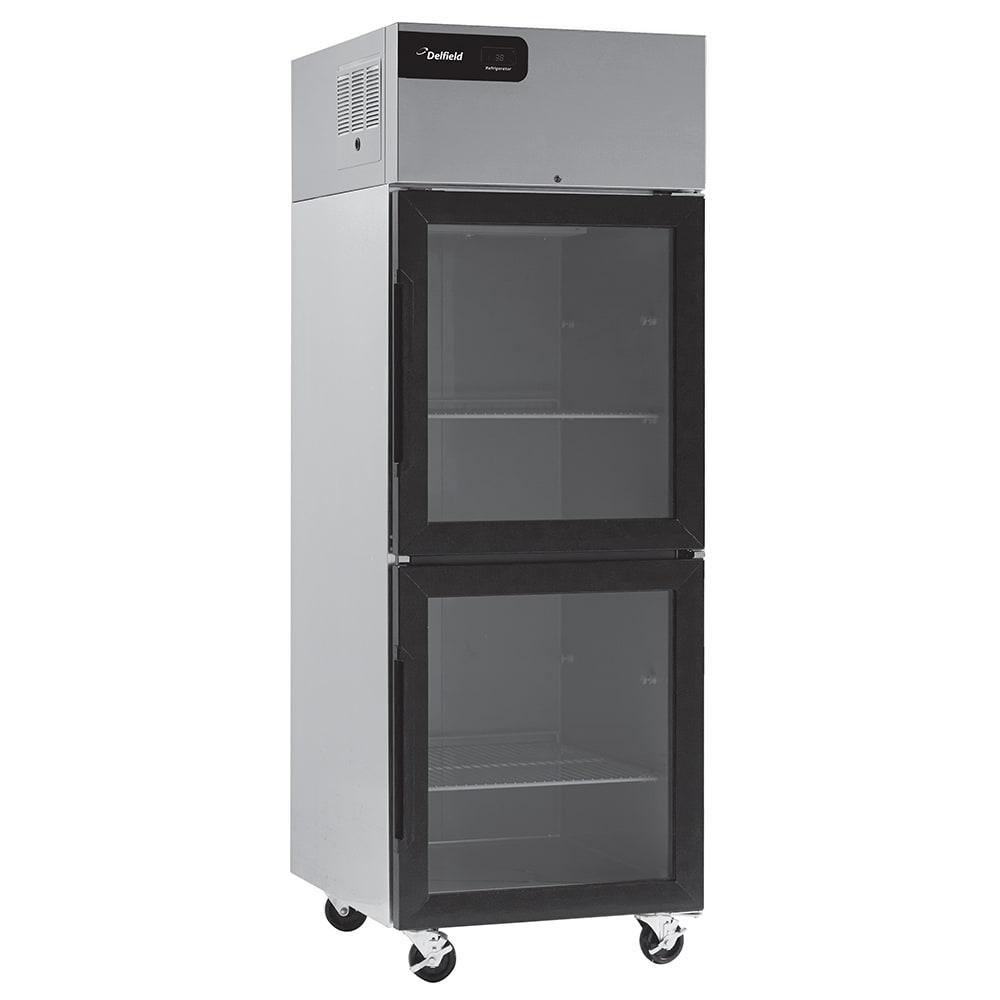 """Delfield CSRPT1P-GH 27"""" Single Section Pass-Thru Refrigerator, (2) Glass Doors, 115v"""