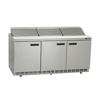 "Delfield D4472N-18 72"" Sandwich/Salad Prep Table w/ Refrigerated Base, 115v"
