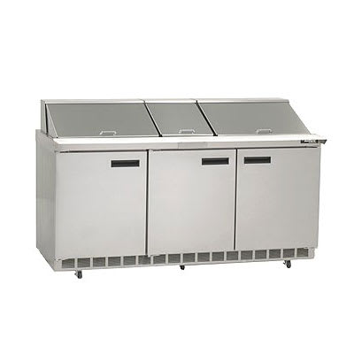 "Delfield D4472N-30M 72"" Sandwich/Salad Prep Table w/ Refrigerated Base, 115v"