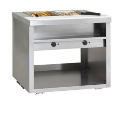 "Delfield EHEI60L 60"" Hot Food Table w/ 4-Wells & Poly Cutting Board, Legs, 208v/1ph"