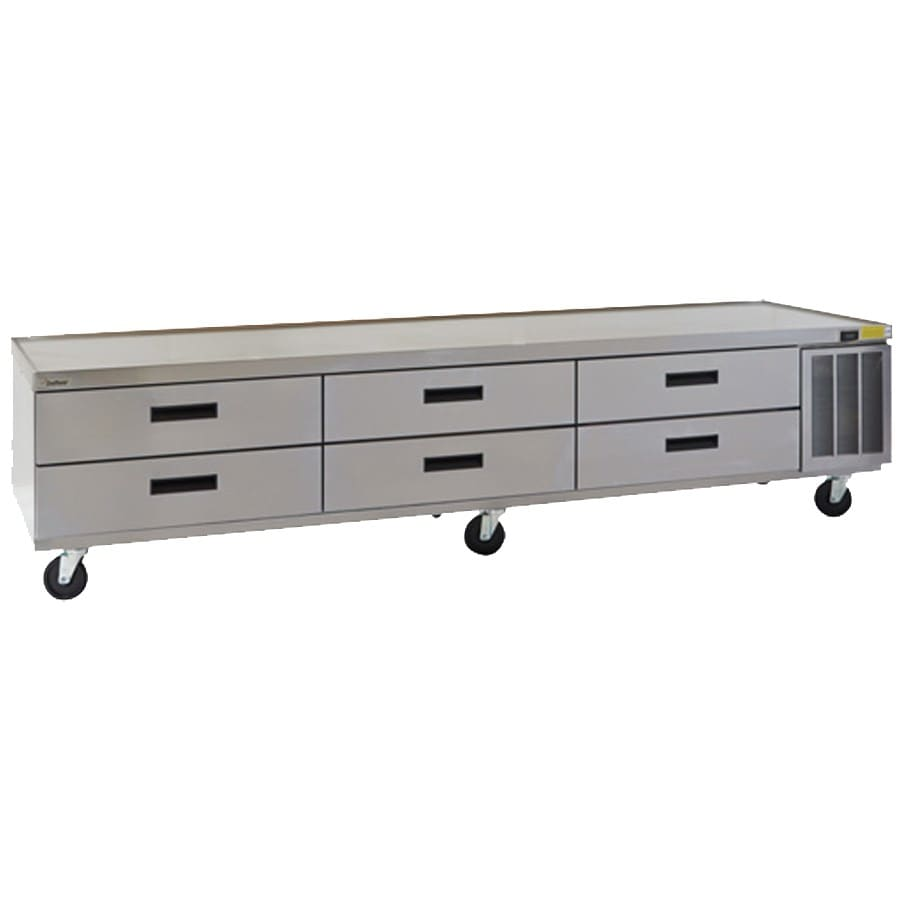 "Delfield F29110CP 110.25"" Chef Base w/ (6) Drawers - 115v"
