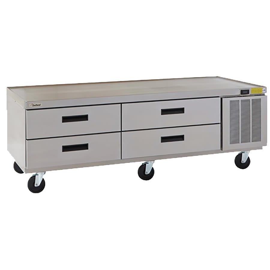 "Delfield F2962CP 62.25"" Chef Base w/ (4) Drawers - 115v"