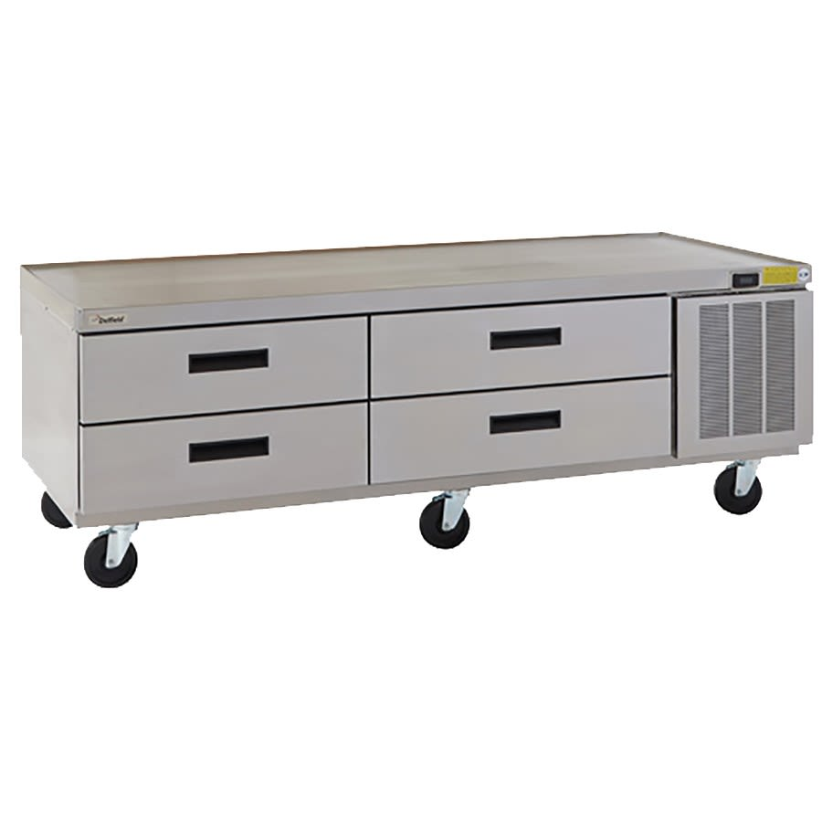 "Delfield F2975CP 75.25"" Chef Base w/ (4) Drawers - 115v"