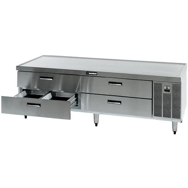"Delfield F2975P 75.25"" Chef Base w/ (4) Drawers - 115v"