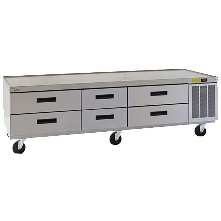 "Delfield F2987CP 87.25"" Chef Base w/ (6) Drawers - 115v"