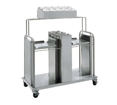 "Delfield FT2-SN-1622 Open Dual Self-Elevating Tray Dispenser for 16 x 22"" Trays"