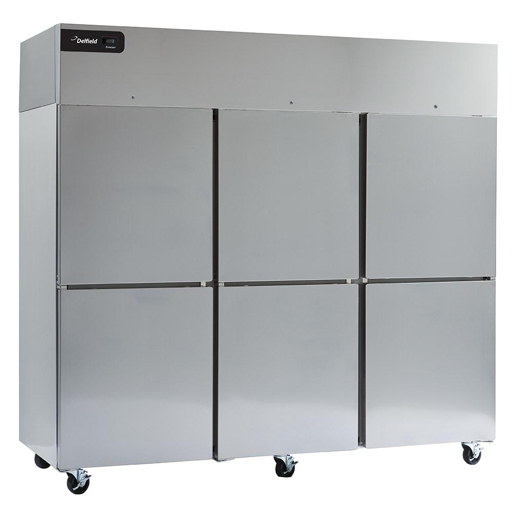 "Delfield GBR3P-SH 83"" Three Section Reach-In Refrigerator, (6) Solid Doors, 115v"