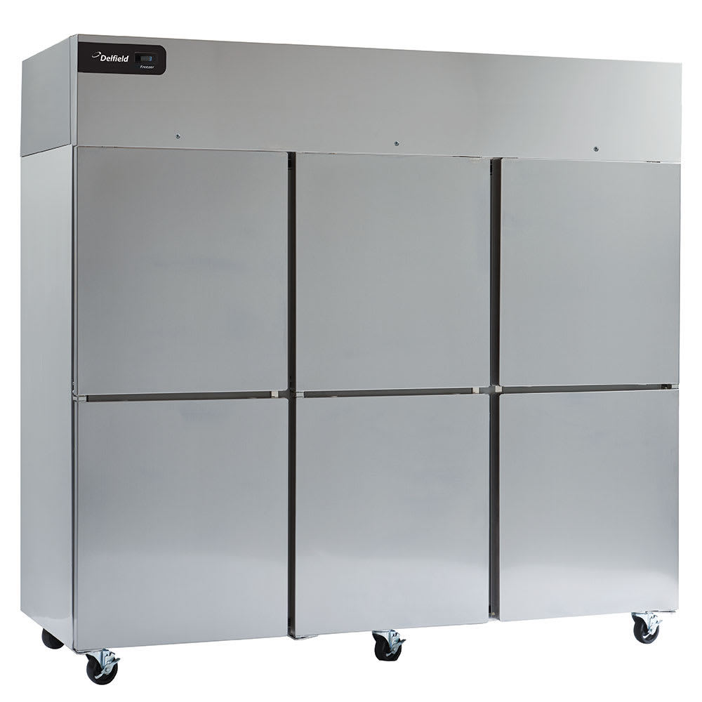 "Delfield GBSF3P-SH 83"" Three Section Reach-In Freezer, (6) Solid Doors, 115v"