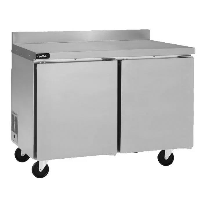 Delfield GUF48BP-S 9.2 cu ft Worktop Freezer w/ (2) Sections & (2) Doors, 115v