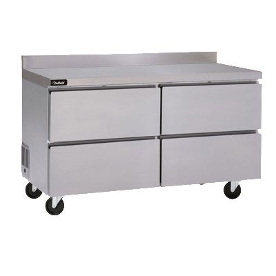 Delfield GUF60BP-D 11.7 cu ft Worktop Freezer w/ (2) Sections & (4) Drawers, 115v