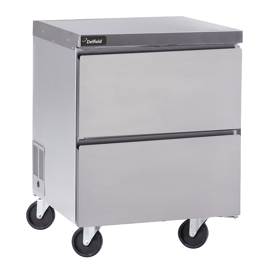 "Delfield GUR27P-D 27"" Worktop Refrigerator w/ (1) Section & (2) Drawers, 115v"