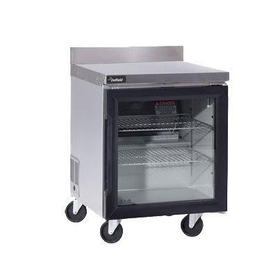 "Delfield GUR32BP-G 32"" Worktop Refrigerator w/ (1) Section, 115v"